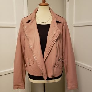 F21 Pink Leather Jacket